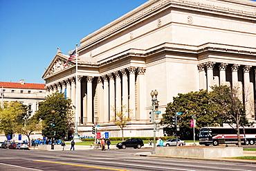 Facade of the National Archives Building, Washington DC, USA, Washington DC, USA