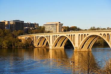 Key Bridge crossing the Potomac River, Washington DC, USA