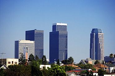 Skyscrapers in a city, Los Angeles, California, USA