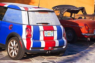 Close-up of a painted car, Miami, Florida, USA