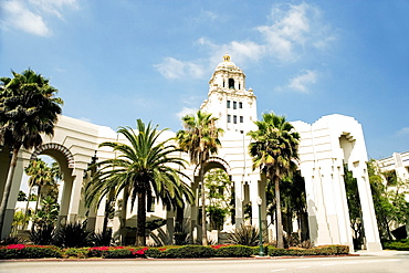 Low angle view of a building, Beverly Hills City Hall, Los Angeles, California, USA