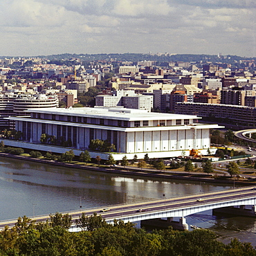 Aerial view of a government building, Kennedy center, Washington DC, USA