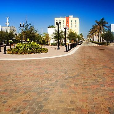 Empty street in a town