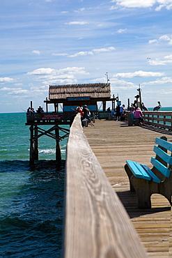 Tourists on a pier, Cocoa Beach, Florida, USA