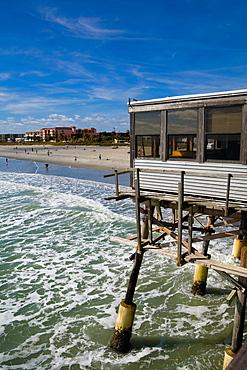Pier in the sea, Cocoa Beach, Florida, USA