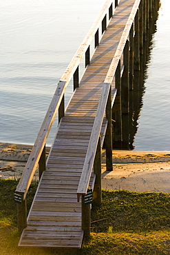 High angle view of a pier at the coast, St. Augustine Beach, Florida, USA