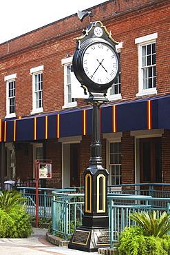 Clock in front of a building, Savannah, Georgia, USA