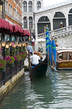 Restaurant at the waterfront, Grand Canal, Venice, Italy