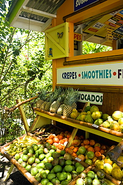 Fruits at a fruit stand, Mawi, Hawaii Islands, USA