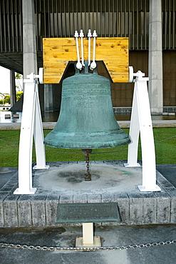 Close-up of a bell, Honolulu, Oahu, Hawaii Islands, USA