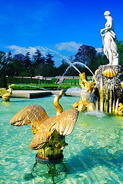 Statues in a fountain, Het Look Palace, Apeldoorn, Netherlands