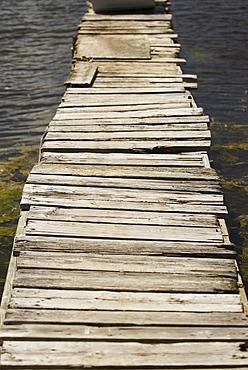 Pier in the sea, Providencia y Santa Catalina, San Andres y Providencia Department, Colombia