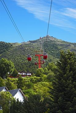 Low angle view of an overhead cable car, Cerro Otto, San Carlos De Bariloche, Argentina