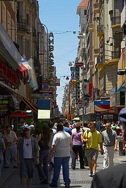 Tourists in a market, Florida Street, Barrio Norte, Buenos Aires, Argentina