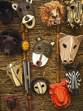Close-up of masks, Old Panama, Panama City, Panama