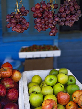 Fruits at a market stall, Providencia, Providencia y Santa Catalina, San Andres y Providencia Department, Colombia