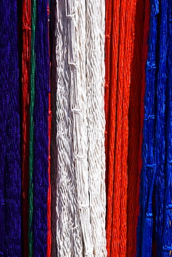 Close-up of colorful threads, Cancun, Mexico