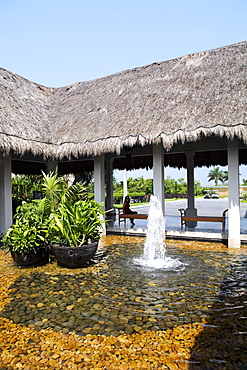 Fountain at the tourist resort, Cancun, Mexico