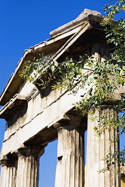 High section view of a temple, Parthenon, Acropolis, Athens, Greece