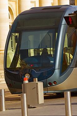 Cable car on tracks, Bordeaux, France