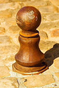 Close-up of a chess piece sculpture, Le Mans, Sarthe, Pays-de-la-Loire, France