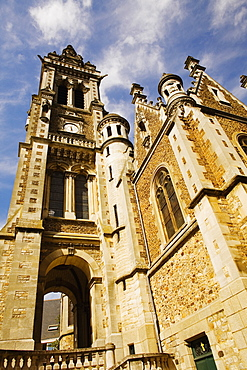 Low angle view of a church, Eglise St.-Benoit, Le Mans, France