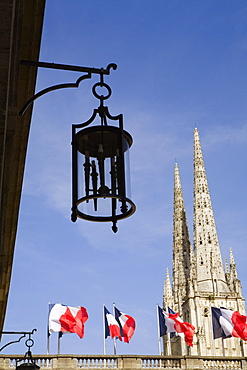 Low angle view of a church, Hotel De Ville, St. Andre Cathedral, Bordeaux, Aquitaine, France