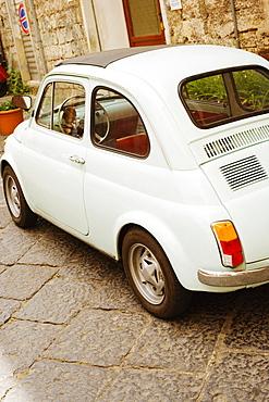 Car parked near a building, Sorrento, Sorrentine Peninsula, Naples Province, Campania, Italy