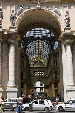 Entrance of a shopping mall, Galleria Umberto I, Naples, Naples Province, Campania, Italy