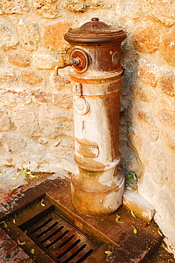 Close-up of a faucet, Siena Province, Tuscany, Italy