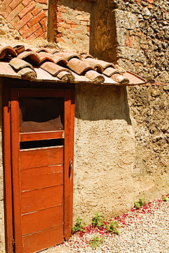 Close-up of the door of a house, Sorrentine Peninsula, Naples, Naples Province, Campania, Italy