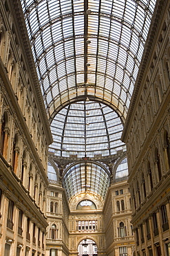 Interiors of a shopping mall, Galleria Umberto I, Naples, Naples Province, Campania, Italy