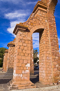 Low angle view of an aqueduct, Zacatecas State, Mexico