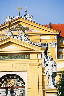 Facade of a church, Benedictine Abbey, Melk, Austria