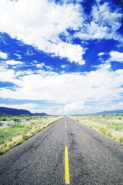 Road passing through a landscape, Texas, USA