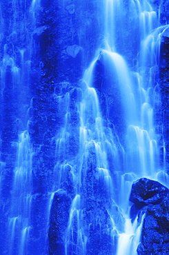 Water flowing from a waterfall
