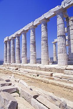 Old ruin colonnades, Parthenon, Athens, Greece