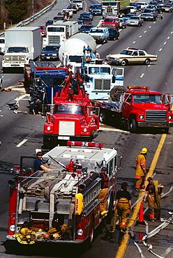 Traffic accident on 495 Beltway , Bethesda, Maryland