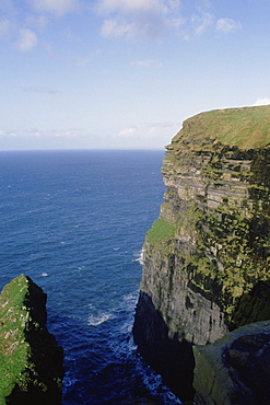 Cliffs on the coast, Cliffs of Moher, Republic of Ireland