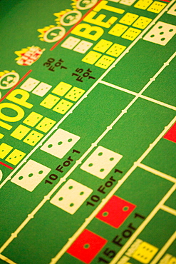 Close-up of a gambling table in a casino, Las Vegas, Nevada, USA