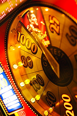 Close-up of a number wheel in a casino, Las Vegas, Nevada, USA