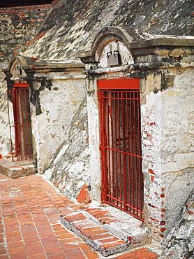 Prison cell in a castle, Castillo de San Felipe, Cartagena, Colombia