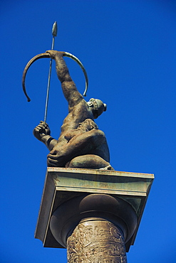 Low angle view of a statue in a city, Miami, Florida, USA