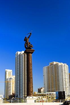 Low angle view of a statue, Miami, Florida, USA