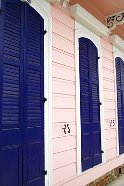 Close-up of closed doors of a building, New Orleans, Louisiana, USA