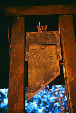 French guillotine, War Museum, Ho Chi Minh City (formerly Saigon) Vietnam