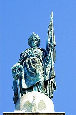 Low angle view of a statue, Boston, Massachusetts, USA