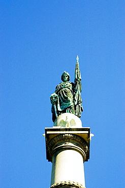 Low angle view of the Civil War Statue, Boston, Massachusetts, USA