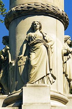 Low angle view of a statue, Civil War Statue, Boston, Massachusetts, USA