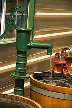 Water flowing through a water pump